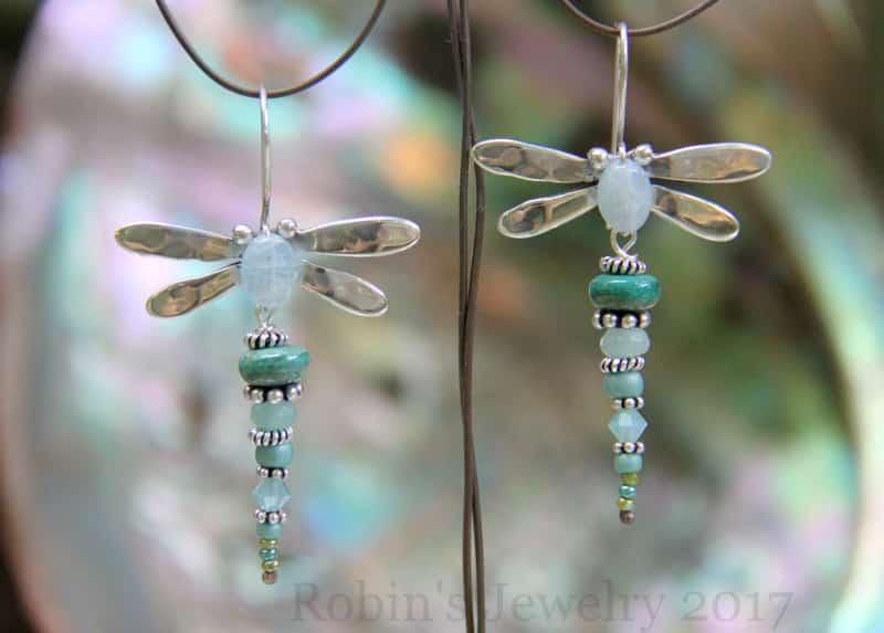 Robin's Jewelry Carmel Dragonfly Earrings