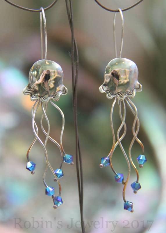 Robin's Jewelry Carmel Jellyfish Earrings
