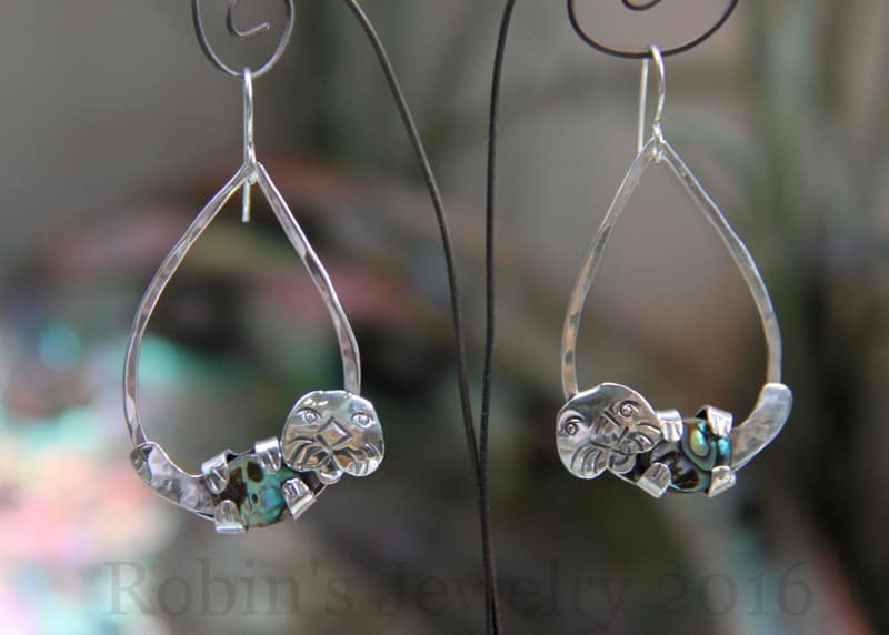 Robin's Jewelry Carmel Sea Otter Earrings