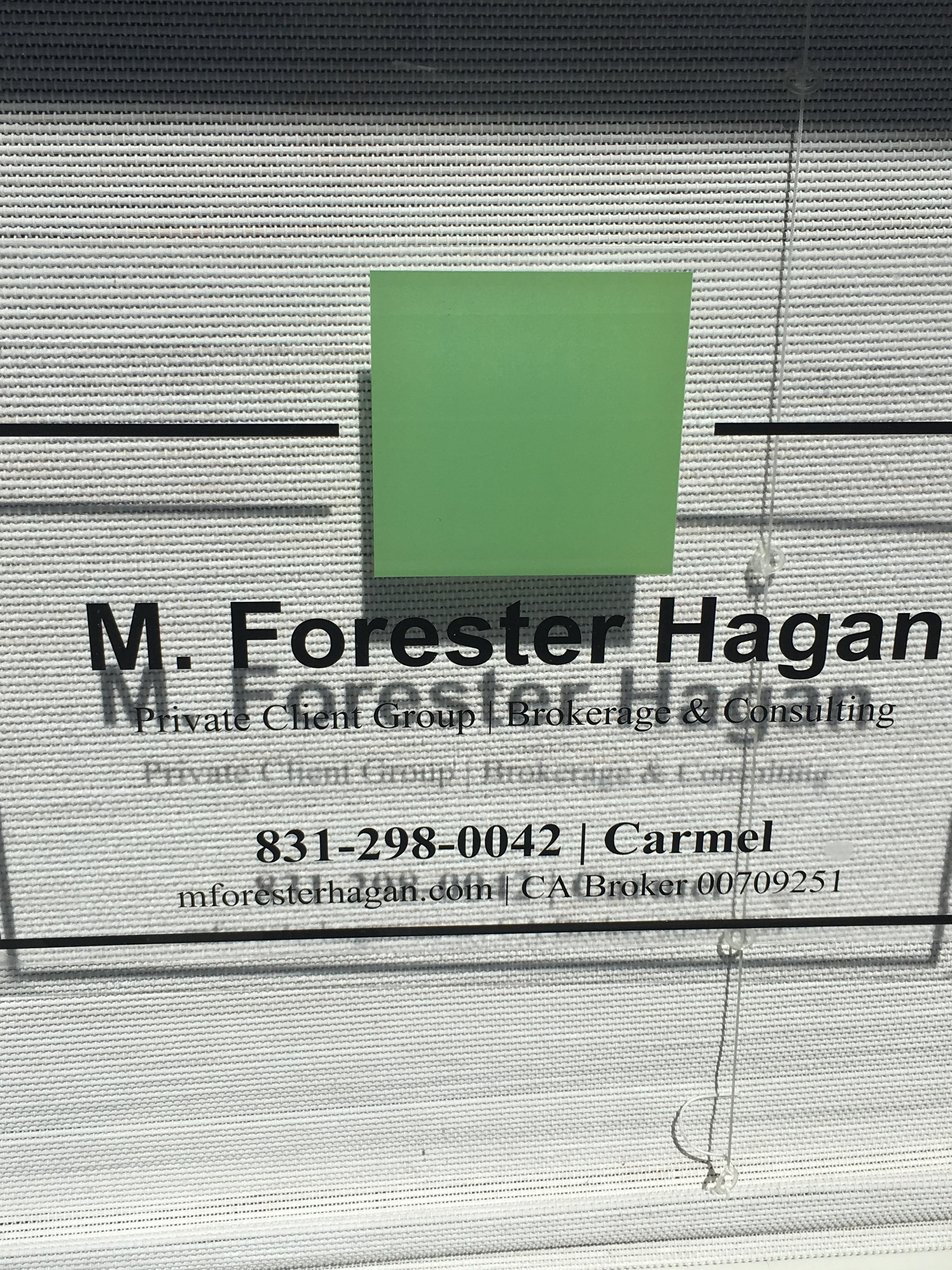 M Forester Hagan