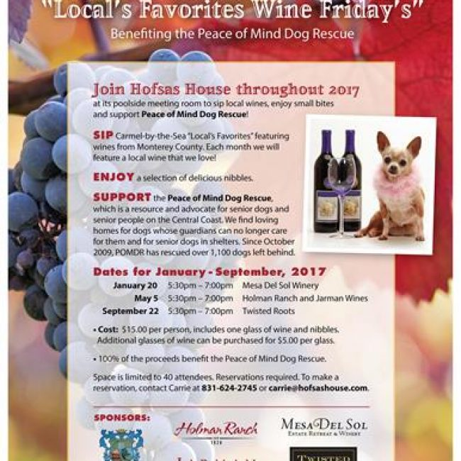 Wine Friday's – Peace of Mind Dog Rescue Benefit